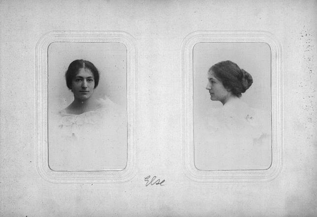 Abb. 2. Else Oppler im Porträt und im Profil, um 1896 Jüdisches Museum Berlin, Inv. Nr. 2006/220/0, Schenkung von Dr. phil. Fortunatus Schnyder-Rubensohn.
