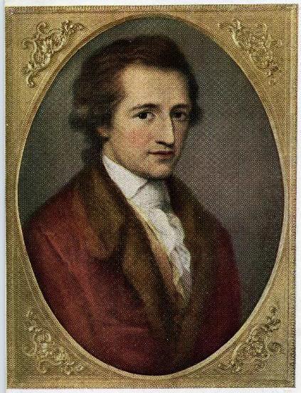 Abb. 1. Porträt Johann Wolfgang von Goethe, gemalt von Angelika Kauffmann in Rom, 1787/1788. Künstlerpostkarte.